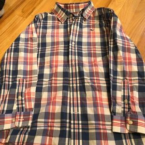 Boys size 7 vineyard vines button down